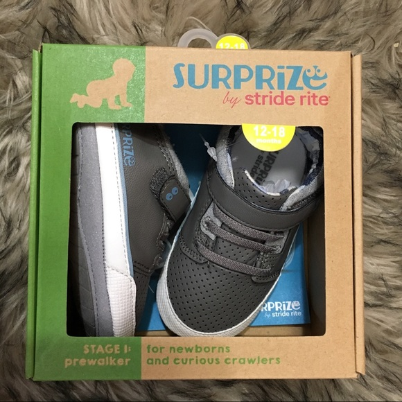 Stride Rite Other - NWT grey baby sneakers